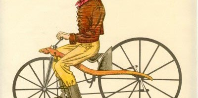 Colonial Annie On A Bike