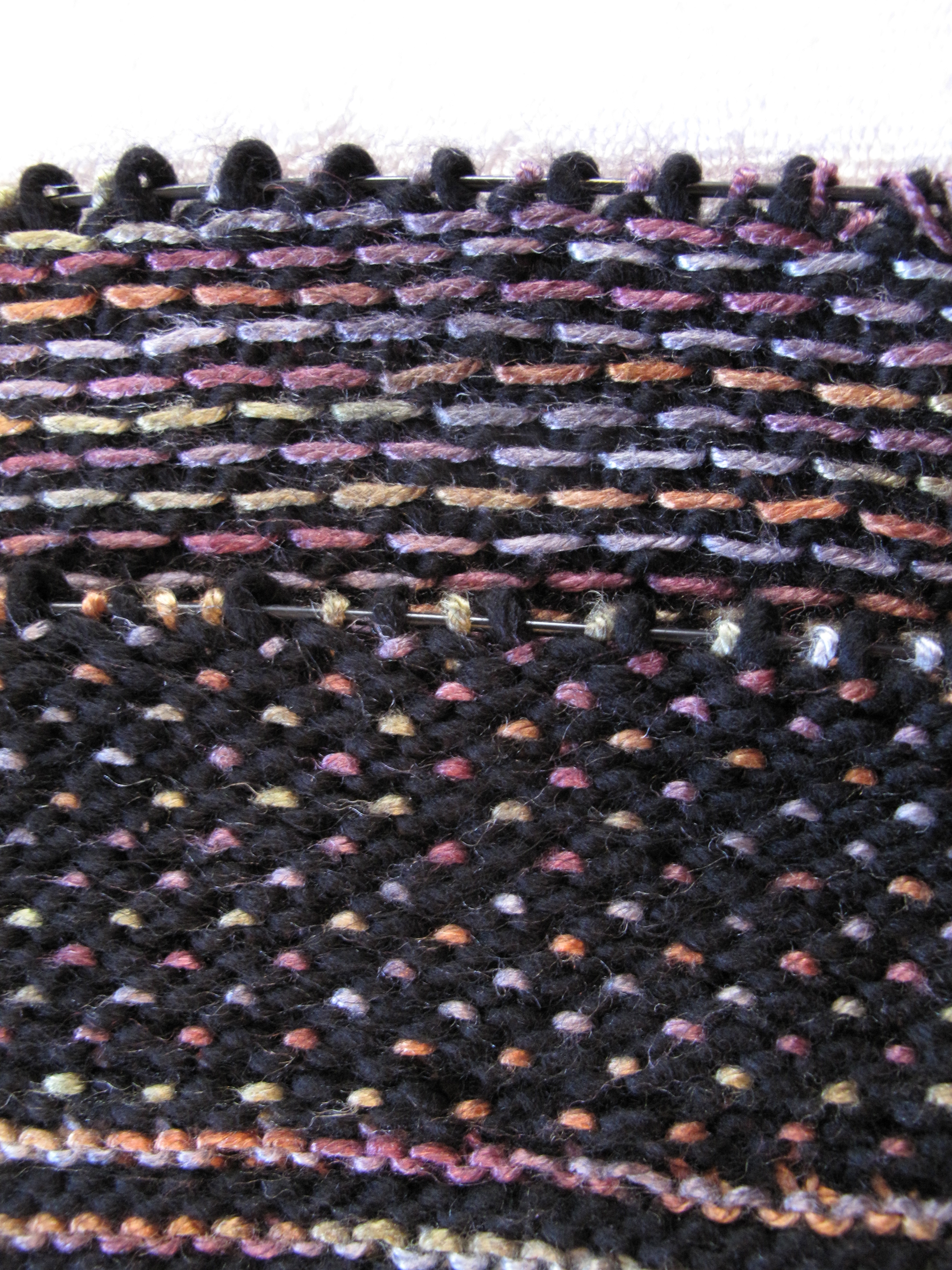 hand knit process | Annie\'s Recovery & Knitting Blog