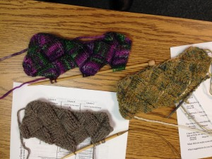 Charted Entrelac Class Swatches, AMAZING Work!