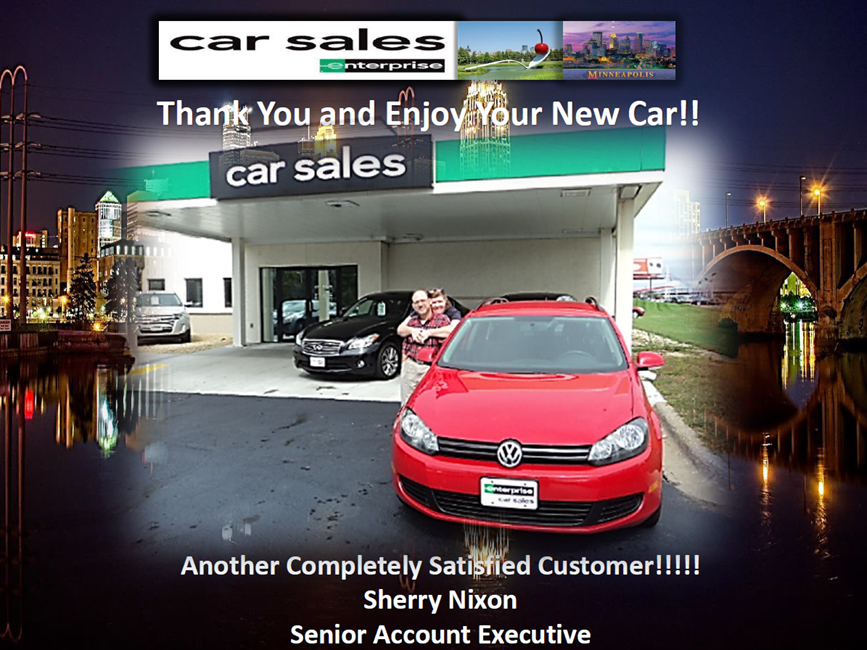 The cheesy shot our saleswoman took when we bought the car, but it's fun, too!