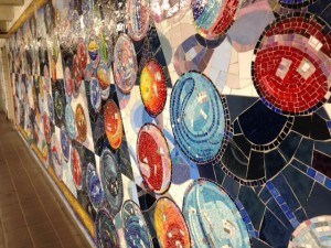 Subway Marble Mosaic Art