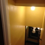stair hallway, post paint